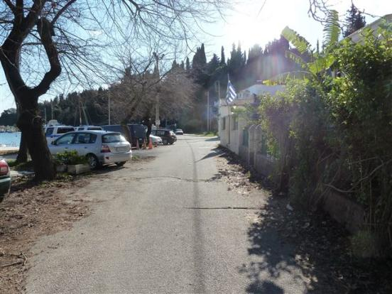 the road outside the house