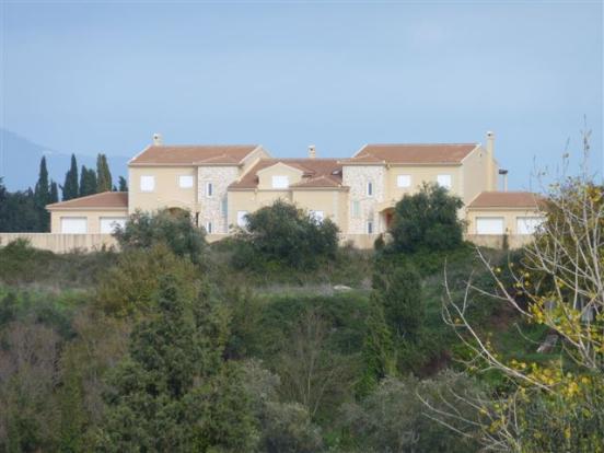villas seen from across the valley