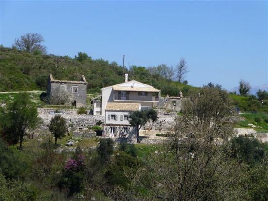 houses from the opposite hillside