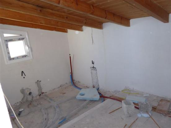 shower room in preparation