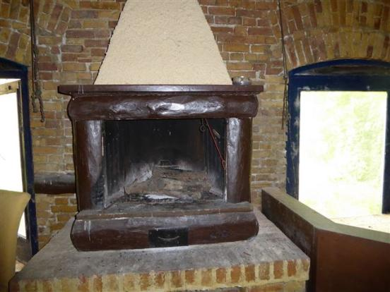 one of the two fireplaces
