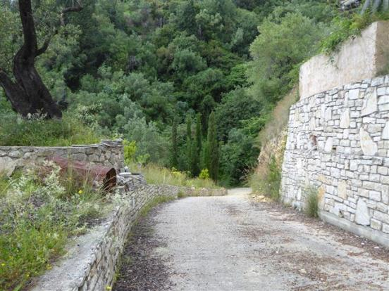 the road leading away from the villas