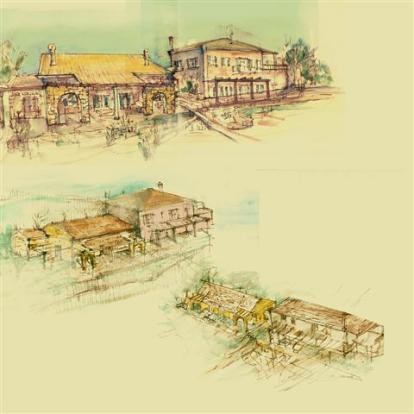 sketches of the villa