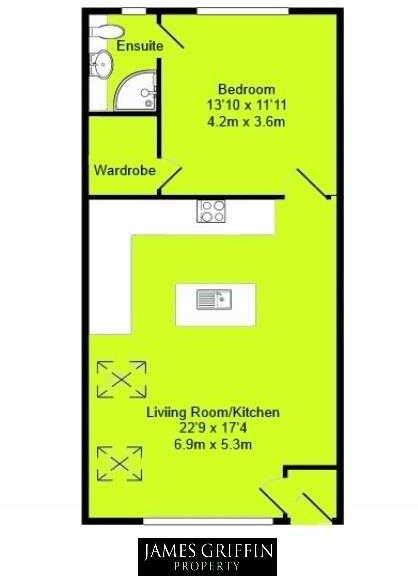 Floor Plan 1 Bed v2