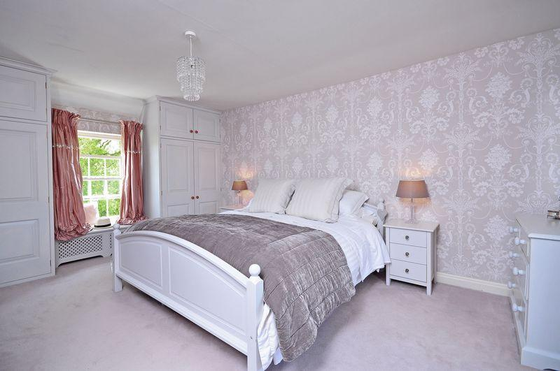 photo of lilac white bedroom master bedroom