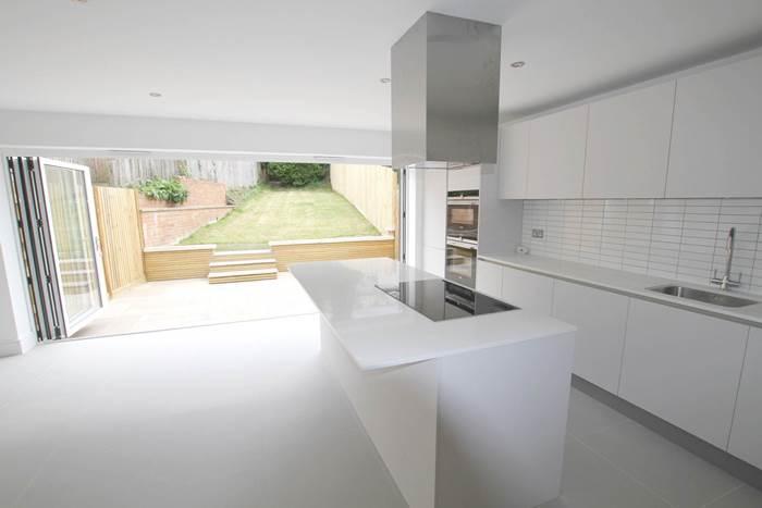 Kitchen with bi-folds