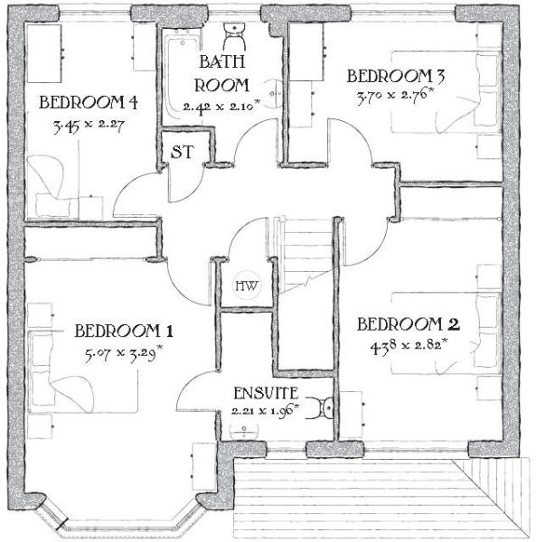 4 bedroom house for sale in mold road penymynydd ch4 ch4 for Oxford floor plan