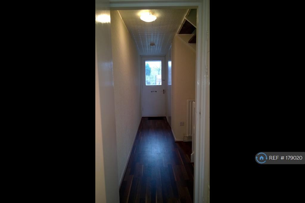 Long Hallway With Laminate Flooring