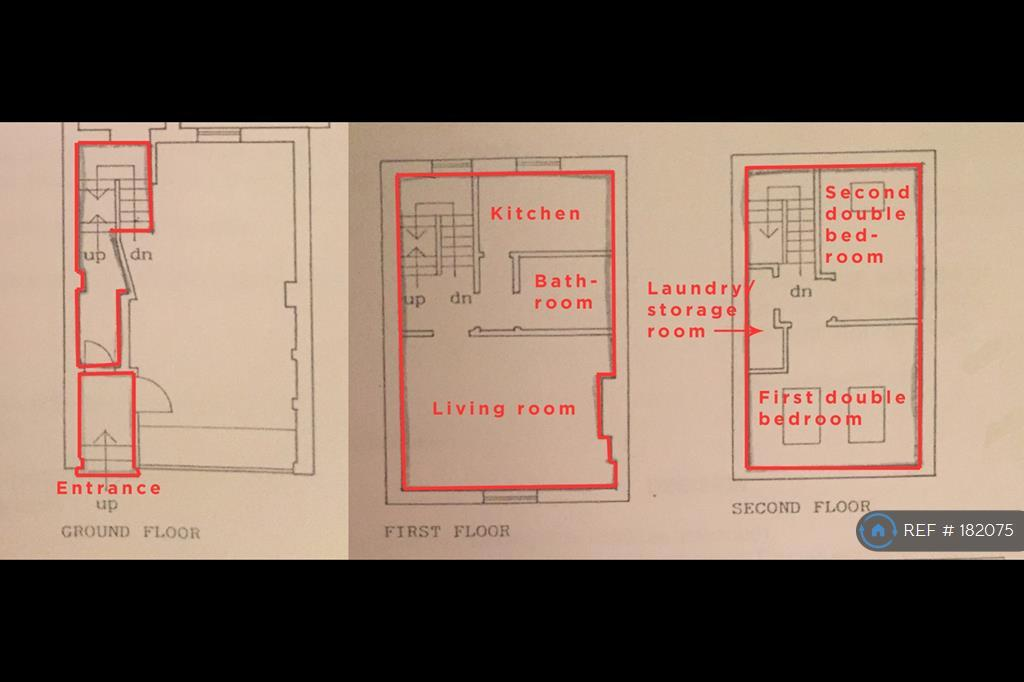 Floorplan - The Flat Is On 3 Levels