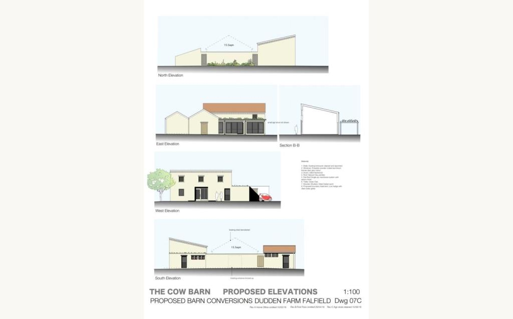 Cow Shed Elevations