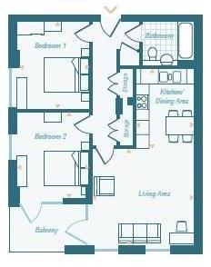 2 bed balham floorpl