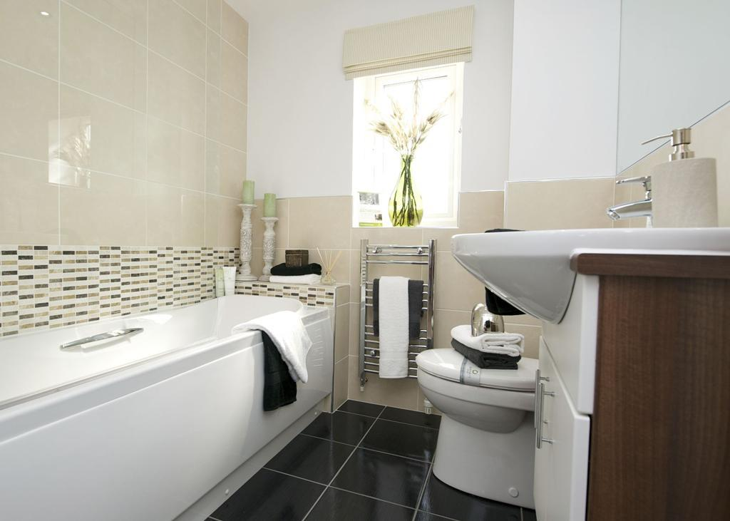 3 bedroom semi detached house for sale in highfield spring for Show home bathrooms