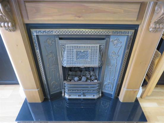Reception Room Two Fireplace