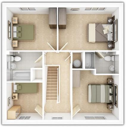 The Downham First Floor Plan