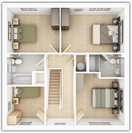 The Downham First Floor Plan