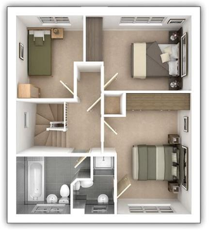 The Aldenham - 3 bedroom first floor plan