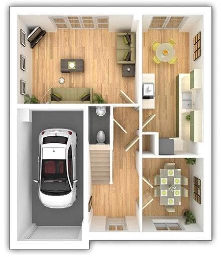 The Bradenham - 4 bedroom ground floor plan