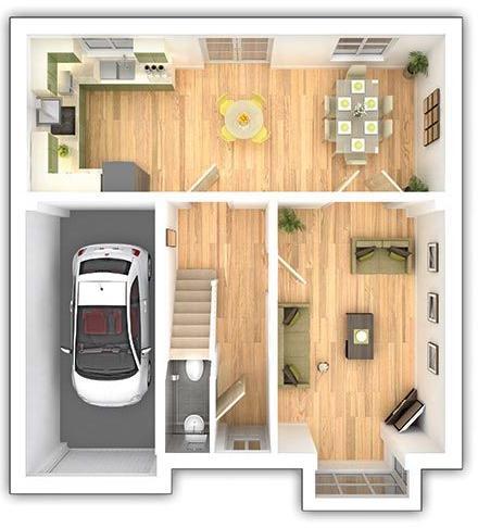 Taylor Wimpey - The Downham - 4 bedroom ground floor plan