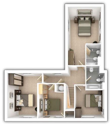 The Langdale - 4 bedroom first floor plan
