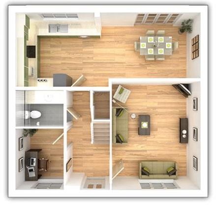 The Shelford - 4 bedroom ground floor plan