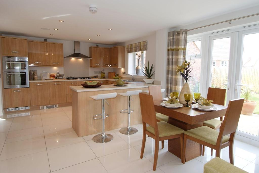 Family Kitchen In The Lichfield A Five Bedroom David Wilson Home For