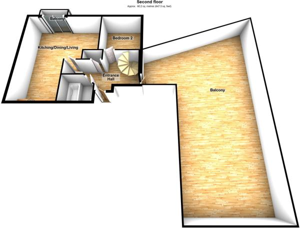 3D second floor p...