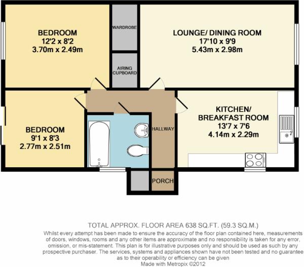 2 Bedroom Bungalow For Sale In De Havilland Way Abbots