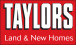 Taylors New Homes, Land and New Homes logo