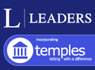 Leaders incorporating Temples, Nantwich branch logo