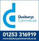 Duxburys Commercial, Blackpool branch logo