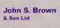 John S Brown & Son, Prestbury logo
