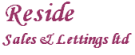 Reside Sales and Lettings Ltd, Essex branch logo