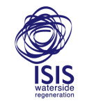 Islington Wharf development by ISIS Waterside Regeneration logo