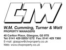 WM Cumming Turner & Watt, Glasgow branch logo