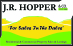 J.R Hopper & Co, Hawes - Commercial logo