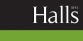 Halls Estate Agents, Bishops Castle logo