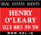 Henry O'Leary Auctioneers and Real Estate Agents, Cork logo