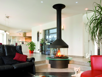 photo of designer diligence international focus fire living room with log burner wood burner