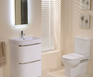 apricot better bathrooms bathroom with blinds storage venetian blind