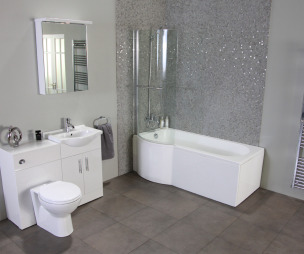 Cheap bathroom suites uk - Of Modern Grey Better Bathrooms Bathroom With Mosaic Tiles Mosaic