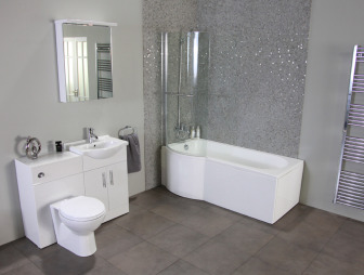 Bathroom design ideas photos inspiration rightmove for Grey bathroom suite ideas