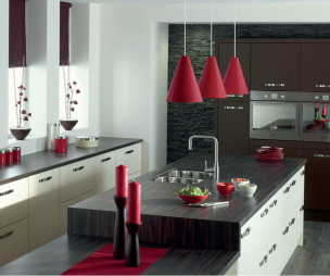 Premier kitchens design ideas photos inspiration for Red and brown kitchen ideas