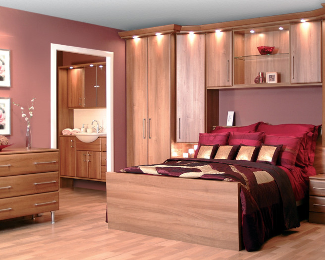 photo of rich sumptuous mauve purple wood wood effect premier kitchens