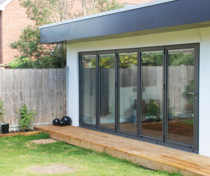 photo of sunfold garden with sliding doors sliding folding doors bi fold doors patio doors and decking