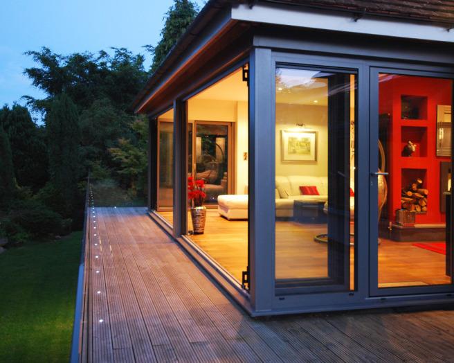 Sunfold sliding doors design ideas photos inspiration for Sliding glass doors garden