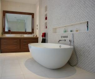 Cool modern white touchwood uk bathroom with bath freestanding bath