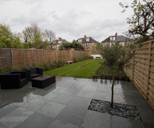 photo of modern flagstones granite slate robert james landscapes garden and patio patio area