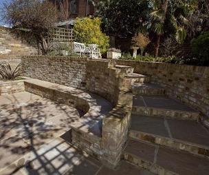 photo of brickwork flagstones robert james landscapes garden with stairs steps and patio
