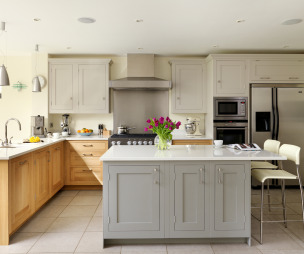 Open plan kitchen design ideas photos inspiration for Kitchen ideas on a budget uk
