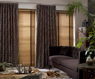 photo of exotic tuiss living room with curtains striped curtains venetian blinds zebra print